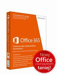 Microsoft Office 365 Home dla Użytkowników Domowych 32/64 Bit PL - licencja na rok
