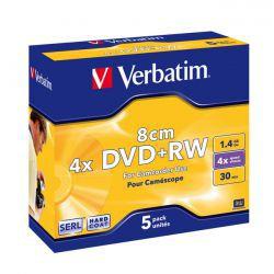 DVD+RW Verbatim mini 5szt