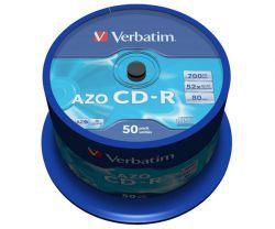 CD-R Verbatim Crystal AZO 50szt