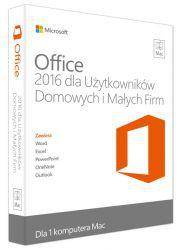Microsoft Office 2016 dla komputerów Mac PL –  wersja dla Użytkowników Domowych i Małych Firm