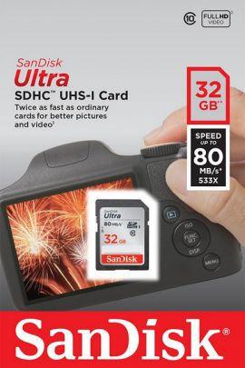 Secure Digital (SDHC) 32GB SanDisk Ultra 80 MB/s UHS-I