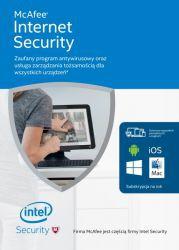 McAfee Internet Security PL OEM - licencja na rok - zdrapka
