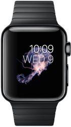 Apple Watch Koperta 38 mm ze stali nierdzewnej w kolorze gwiezdnej czerni z bransoletą panelową ze stali nierdzewnej w kolorze gwiezdnej czerni
