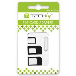 Techly SIM adapter zestaw