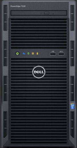 Dell T130 E3-1220v5 1x8GBub 2x 1TB SATA 3,5'' cabled ENT H330 DVD-RW 3yNBD