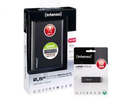 Intenso MemoryHome 1TB + Pendrive alu line 8GB