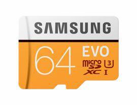 Samsung EVO microSDXC 64GB UHS-I U3 [Zapis 60MB/s Odczyt 100MB/s]