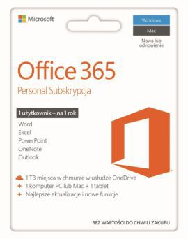 Microsoft Office 365 Personal PL - licencja na rok