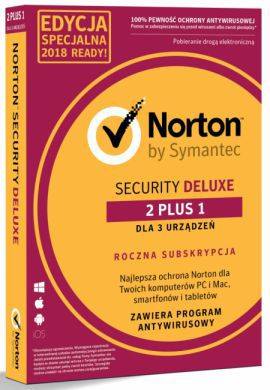Norton Security Deluxe BOX PL 2+1 - device - licencja na rok