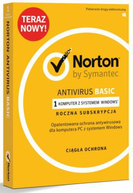 Norton Antivirus Basic BOX PL 1 - desktop - licencja na rok