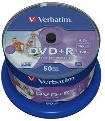DVD+R Verbatim Printable NO ID 50 szt