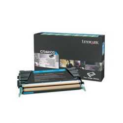 Toner Lexmark C734A1CG błękitny zwrotny