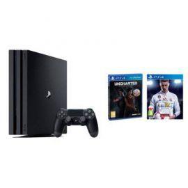 Konsola SONY PlayStation 4 Pro 1TB A Chassis Czarna + FIFA 18 + Uncharted: Zaginione Dziedzictwo + Playstation Plus 14 dni