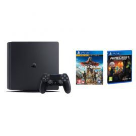 Konsola SONY PlayStation 4 Slim 500GB D Chassis Czarna + Tom Clancy's Ghost Recon: Wildlands - Deluxe Edition + Minecraft: Edycja PlayStation 4