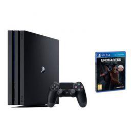 Konsola SONY PlayStation 4 Pro 1TB A Chassis Czarna + Uncharted: Zaginione Dziedzictwo + Playstation Plus 14 dni + To jesteś Ty Voucher