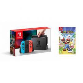 Konsola NINTENDO Switch + Joy-Con Niebiesko-czerwony + Mario & Rabbits: Kingdom Battle