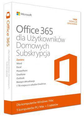 Subskrypcja MICROSOFT Office 365 dla Użytkowników Domowych