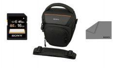 Zestaw podróżny do Sony SLT A58 (Torba SONY LCSAMB + Karta SD 16GB + Ściereczka)