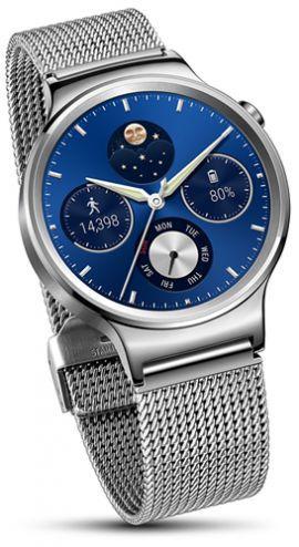 Smartwatch HUAWEI Watch Srebrny + pasek ze stali nierdzewnej