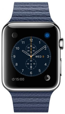 Smartwatch APPLE Watch koperta 42mm (srebrny/nocny błękit)