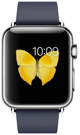 Smartwatch APPLE Watch koperta 38mm (srebrny/nocny błękit)