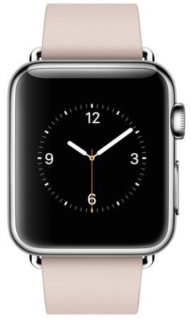 Smartwatch APPLE Watch koperta 38mm (srebrny/różowy)