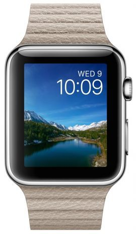 Smartwatch APPLE Watch koperta 42mm (srebrny/piaskowy)