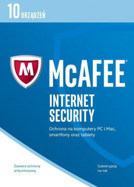 Program MCAFEE Internet Security 2017 (10 urządzeń)