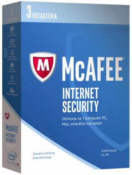 Program MCAFEE Internet Security 2017 (3 urządzenia)
