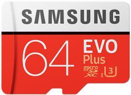 Karta pamięci 64GB 100MB/s micro SD SAMSUNG EVO+ klasa 10 UHS-I MB-MC64GA/EU