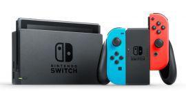 Konsola NINTENDO Switch + Kontroler Switch Czerwono-niebieski + Gra Mario & Rabbids