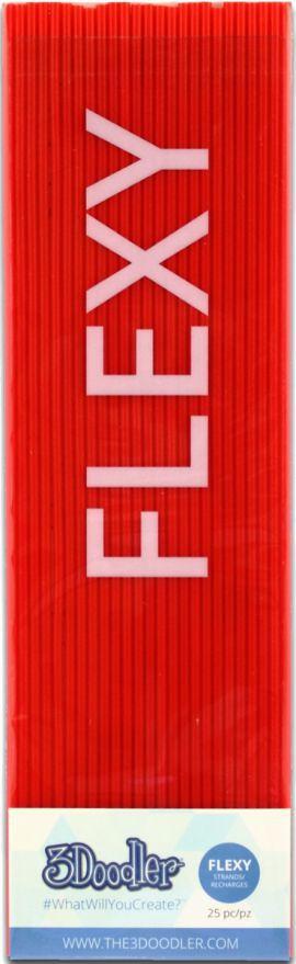 Filament 3DOODLER PL-MIX12 PLA 25 sztuk Czerwony