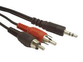Kabel Minijack/2xRCA (Cinch) M/M 2.5M (BLISTER) EXTREME MEDIA