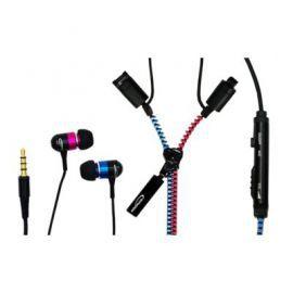 Typhoon UniqueZipper, Słuchawki z suwakiem i mikrofonem różowo-niebieskie
