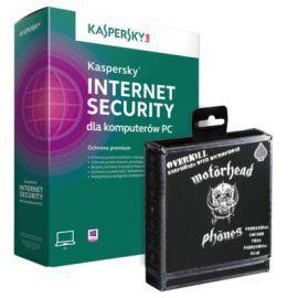 Program Kaspersky Internet Security 2 Stanowiska 1 Rok + Słuchawki Motorhead Overkill