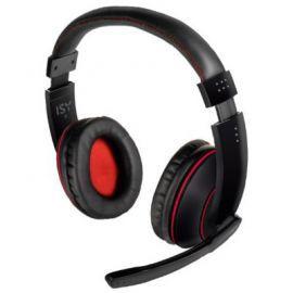 Słuchawki z mikrofonem ISY IHS 3100 Czarno-czerwony