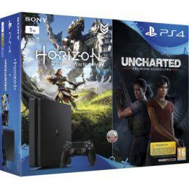 Konsola SONY PlayStation 4 Slim 1TB D Chassis Czarna + Horizon Zero Dawn + Uncharted: Zaginione Dziedzictwo + To jesteś Ty Voucher