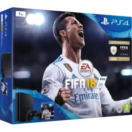 Konsola SONY PlayStation 4 Slim 1TB D Chassis Czarna + FIFA 18 + Playstation Plus 14 dni