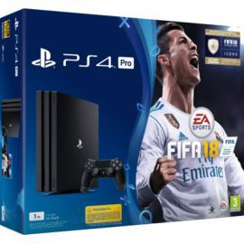 Konsola SONY PlayStation 4 Pro 1TB A Chassis Czarna + FIFA 18 + Playstation Plus 14 dni