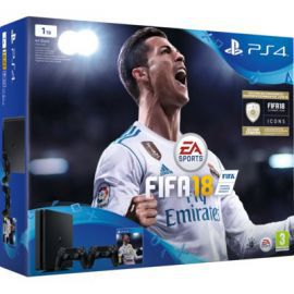 Konsola SONY PlayStation 4 Slim 1TB D Chassis Czarna + FIFA 18 + Kontroler DualShock 4 + Playstation Plus 14 dni