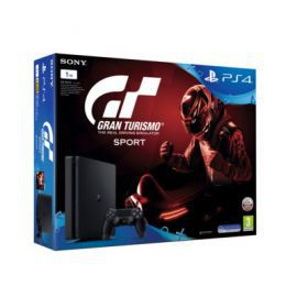 Konsola SONY PlayStation 4 Slim 1TB E Chassis Czarna + Gran Turismo Sport + To jesteś Ty Voucher + Playstation Plus 14 dni