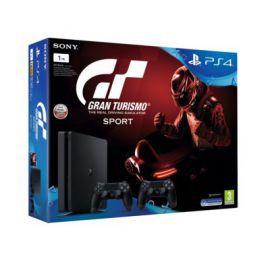 Konsola SONY PlayStation 4 Slim 1TB E Chassis Czarna + Kontroler DualShock 4 + Gran Turismo Sport + To jesteś Ty Voucher + Playstation Plus 14 dni