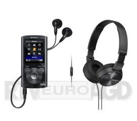 Sony NWZ-E384 (czarny) + słuchawki MDR-ZX310 (czarny)