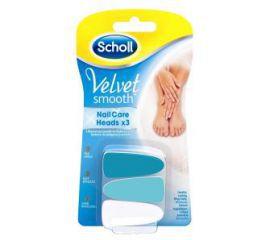 Scholl Nasadki do pielęgnacji paznokci Velvet Smooth - 3szt.
