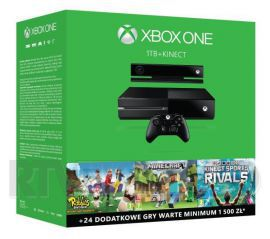 Xbox One 1TB + Kinect + 3 gry
