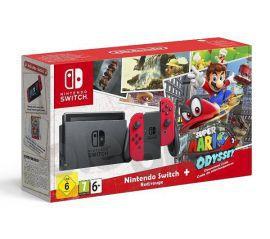 Nintendo Switch (czerwony) + gra