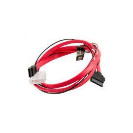 4world Kabel zasilający HDD  Slimline SATA-SATA   LP4 adapter   90cm czerwony
