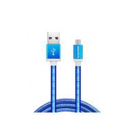 Adata Kabel USB-microUSB 1m Blue alu-knit
