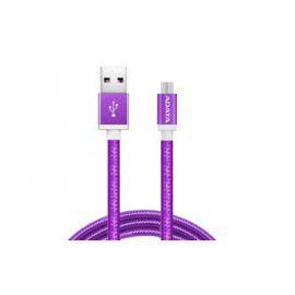 Adata Kabel USB-microUSB 1m Purple alu-knit