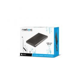NATEC Kieszeń zewnętrzna HDD sata RHINO 2,5'' USB 2.0 Aluminium Black
